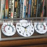 promotional plastic quartz analog type desk clock with weather station                                                                         Quality Choice