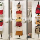 Over Door Hat Bag Clothes Rack Holder Organizer Adjustable Hanger 8 Hooks