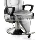 2015 Grey all purpose barber chairs for hairdressing;Model barber chairs with comfortable footrest
