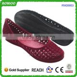 $1 dollar Ladies most durable PVC Jelly Shoes one piece