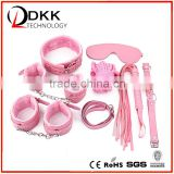 XG003 7Pcs Set Including Eye Mask/Collar/Ball Gag/Handcuffs/Ankle Cuffs/Whip/Rope Sex Toy