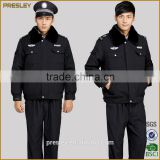 custom padded winter warm police uniform police work wear uniforms/security guard and police wear
