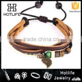 wholesale products alloy parts genuine leather bracelet handmade                                                                         Quality Choice                                                     Most Popular