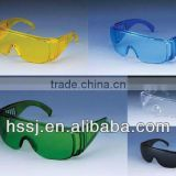 PC safety goggles Anti- UV safety glasses 2.2mm PC lens industrial transparent lens safety goggles for ebola