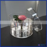 Acrylic flowers package tube round box tube clear round box for rose flower packaging                                                                         Quality Choice