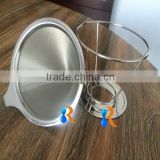 trade assurance reusable stainless steel double wall fine mesh pour over coffee strainer cone                                                                                                         Supplier's Choice
