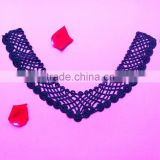 [Best price]Dark blue luxurious battenburg neck lace motif for Garment,dress,home textile