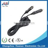 Male to male Car Cigarette lighter plug with dc power cable