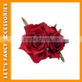 PGHD0293 Rose flower hair clip,accessories for hair,birthday party accessories from yiwu
