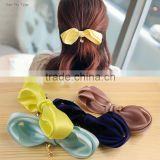 Sweet Eiffel Tower Color Ribbon Bows Cheerleading Elastic Hair Bands Rubber Hair Band Fashion Accessories