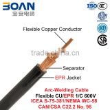 Arc-Welding Cable, Welding Machine Cable, Flexible CU/EPR, 600 V (ICEA S-75-381/NEMA WC 58/CAN/CSA C22.2 No. 96/UL 1581)