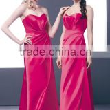 2015 Sweetheart Floor Length Hot Pink Wedding Reception Dresses Made To Order Bridesmaid Dresses China HA-136