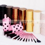 professional 12 pcs private logo cosmetic makeup brush set cylinder holder                                                                         Quality Choice