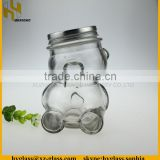300ml high quality bear shape glass honey jar with screw cap wholesale