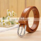 wholesale fashional custom mens snake skin brown leather belt