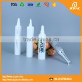 Small plastic eyes essence sample packaging for cosmetics/ PE material 10ml white plastic round tube