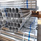 ERW Hot Dipped galvanized steel pipe painted words with plastic cap threated with coupling pipe