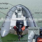 fiberglass small inflatable jet boat with outboard engine