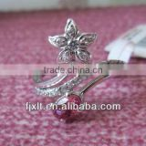 Large Stock Newest Fashionable Design Tourmaline Flower Silver Ring
