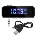 Mini Wireless Transmitter 3.5mm In-car Music Audio FM Transmitter Electronic Car MP3 Player 3.5mm Car Display 3.5 mm mp3 car