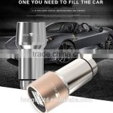 promotional stainless steel metal fast MIRCO car charger 2.0 car charger, mini usb car charger