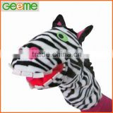 Plush Hand Puppet with Zebra Shape