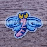 Adhesive clothing embroidery mini embroidered bee patches custom