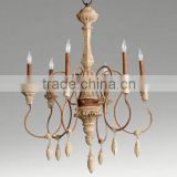 Low Price american chandelier wood parts 6 head                                                                         Quality Choice