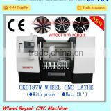 CK6187W Wheel hub scratch repair CNC Lathe Machine With Diamond Cutting Tools