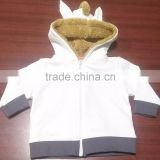 FRENCH TERRY HOODIE WITH FUR INSIDE