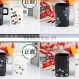 creative new fashion simple square black and white lovers glazed ceramic office coffee mug for gift and promotion