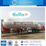 China liquified natural 3 axles gas tanker semi trailer LPG truck for sale in south america
