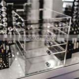 Retail Hot Fantastic 24 Trapezoid Clear Acrylic Lipstick Holder Brushes Makeup Stand Luxury Cosmetic Organizer Display Rack Box