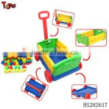 2013 2 in 1 70pcs 1.2MM thickness intelligent building block new model unique baby walker