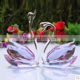 Crystal Couple Swan Figuirnes For Wedding Souvenirs Gifts