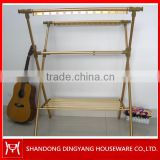 X-type double pole telescopic clothes rack,customer prasied telescopic clothes rack,with towel racks clothing rack