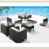 7-seat Dubai Brown rattan furniture garden (S5163)