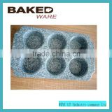 high quality bakeware 6 cup muffin pan nonstick baking tools