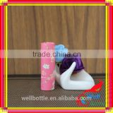 Pink lipstick tube with round food grade cardboard tube for bamboo lip balm tubes
