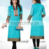 Indian Handmade Kurta Women Cotton Kurti Ethnic Embroidered Desinger Top Tunic