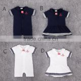 New arrive good quality orange sailor suit lovely cotton girls and boys baby clothes wholesale price