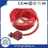 Flexible natural two braided layer single line fire resistant and high pressure gas regulator hose, LPG gas hose
