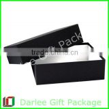 luxurious black rectangle cardboard box wholesale fashion jewelry gift box with logo printed china paper packaging box supplier