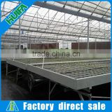 2016 Hot sale greenhouse ebb and flow rolling benches hydroponics system table