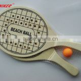 Hot Selling Wooden Beach Bat And Ball Set for Outdoor Sports