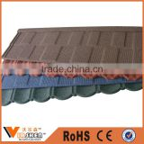 Roof tiles in turkey/villa roofing sheet building material price/stone coated steel roofing tile