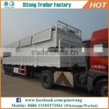 China hot sale 3 axle flatbed highway cargo trailer side wall utility 6x4 sinotruk tractor truck