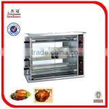 Alibaba Hot sale Stainless steel Gas Chicken Rotisserie JGT-4P Mobile: 0086-13632272289