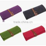Shipping from china roll up polyester travel glass sleeve spectacle pouch wholesale cotton fabric wholesale eyeglass case