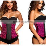 100% Latex Women Waist Cincher Animal Print Workout Waist Trainer colombia